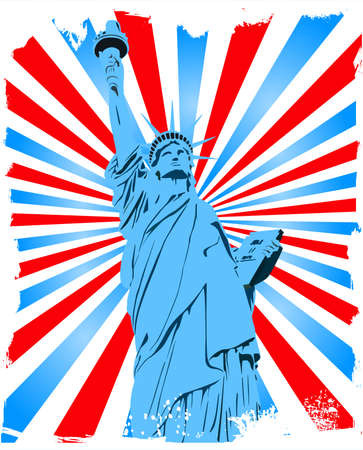 Statue of Liberty grunge background Vector