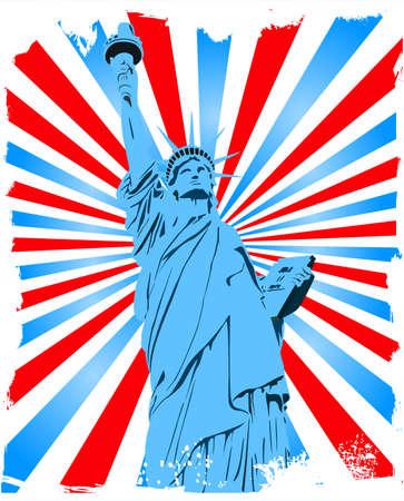 Statue of Liberty grunge background