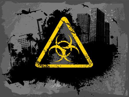 toxic substance: Toxic city Illustration