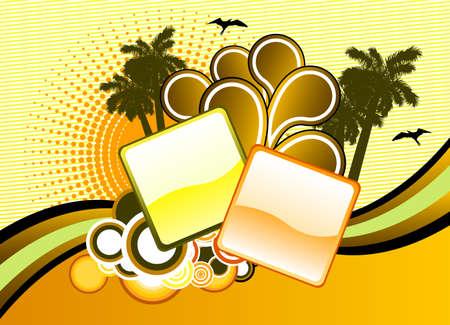 Summer beach Ilustração