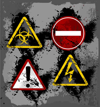 biohazard: Danger signs Illustration