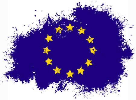 European union flag Illustration