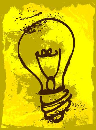 Grunge idea Illustration