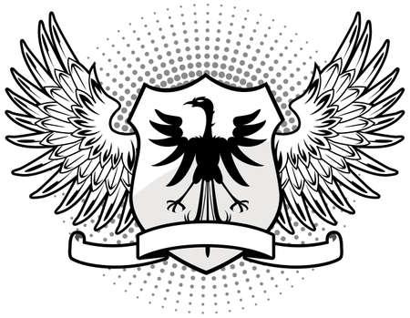 aguila calva: Escudo White Eagle Vectores