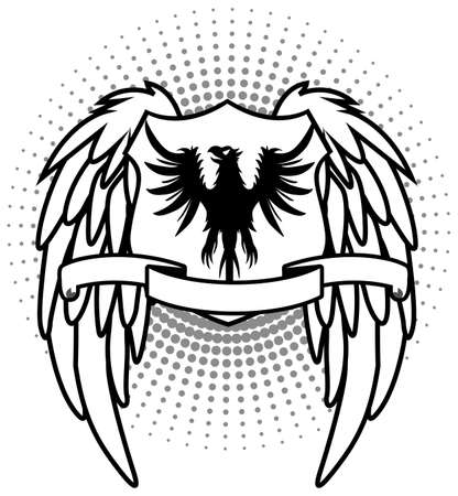 White Eagle shield Vector
