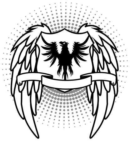 White Eagle shield Vector