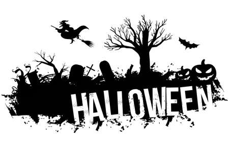 Grunge black halloween Illustration