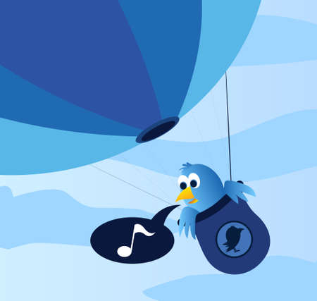 twitter: Blue bird balloon