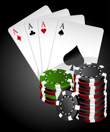 Four aces poker high end Vector