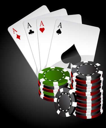 Four aces poker high end Illustration