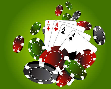 Four aces poker 일러스트