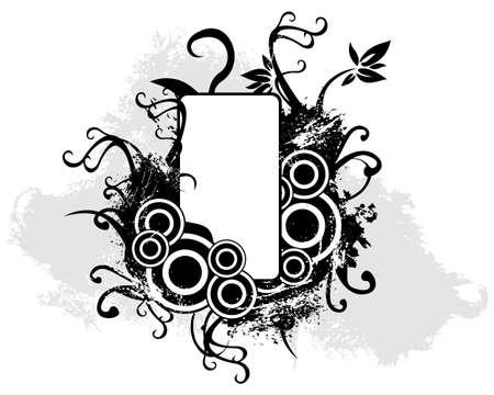 Grunge nature banner 向量圖像