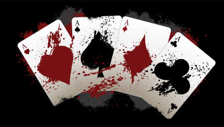 Grunge poker aces Vector