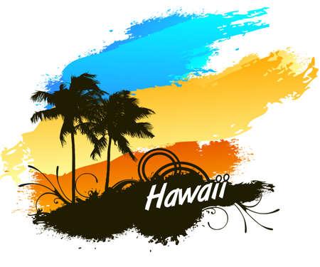 Hawaii zomer Stock Illustratie