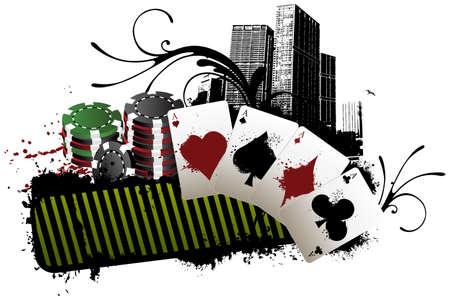 Poker banner Иллюстрация