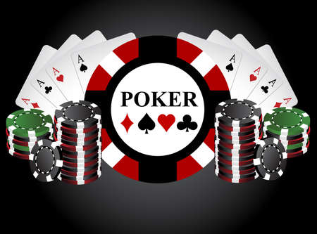 Poker chips Stock Vector - 25591031