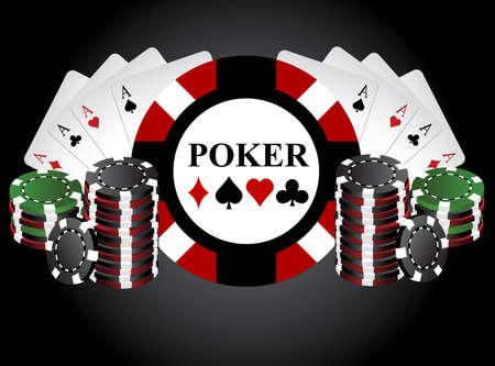 Poker chips Stock Vector - 25591031