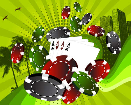 Urban poker Vector