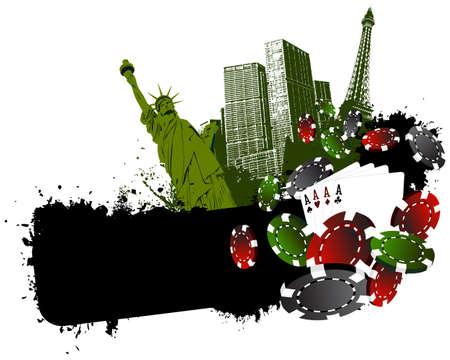 Vegas city gambling Vector
