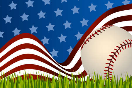 baseball cap: American baseball background ball Illustration