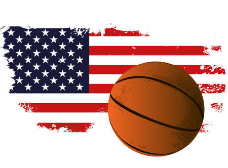 American basketball Illustration