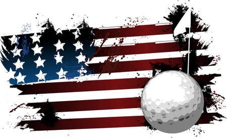 Amerikaanse grunge golf Stock Illustratie