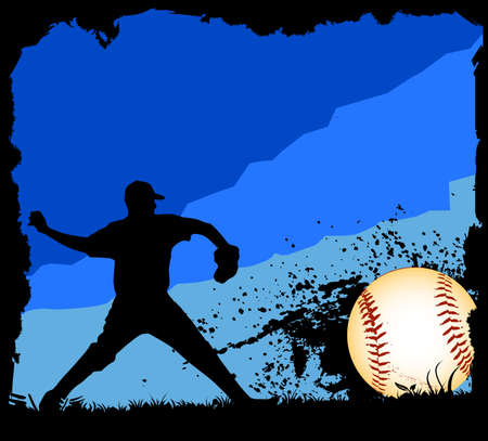 Baseball background  イラスト・ベクター素材