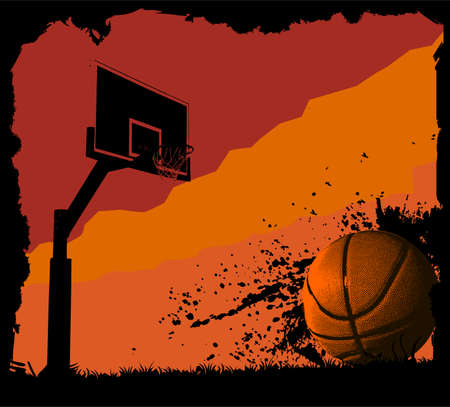 Basketball background Ilustrace