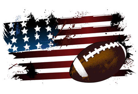 Football American flag Vector