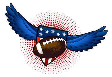 Football wings Vector