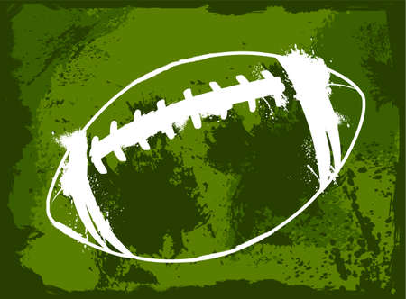 grunge football: Grunge american football Illustration