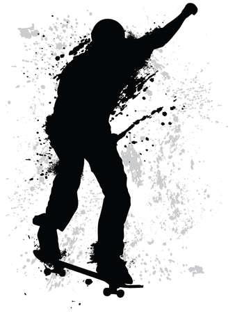 teenagers only: Grunge skater Illustration