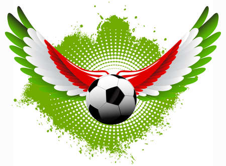 Italy soccer wings Vector