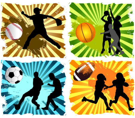 sports equipment: Sport Backgrounds Illustration
