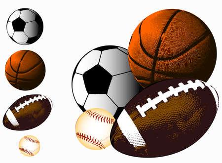balones deportivos: Deportes de pelotas  Vectores