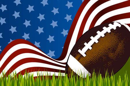 American football background ball