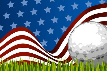 American golf background ball