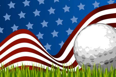 Amerikaanse golf achtergrond bal