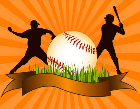 sphere standing: Baseball background Illustration