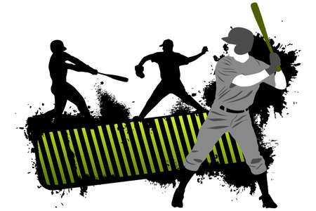 Baseball banner Vettoriali