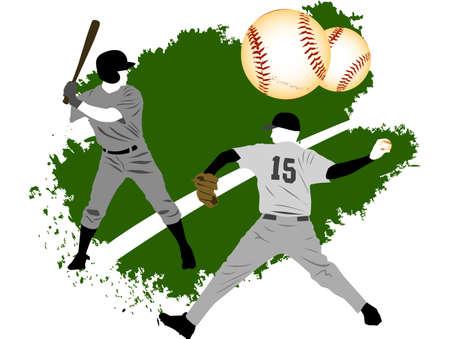 Baseball grunge players