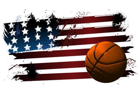 Basketball American flag
