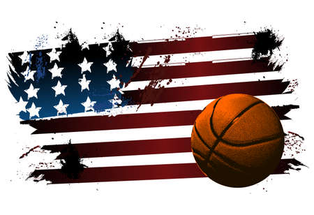Basketball American flag