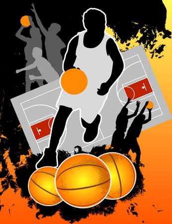 basketball court: Basketball Background Illustration
