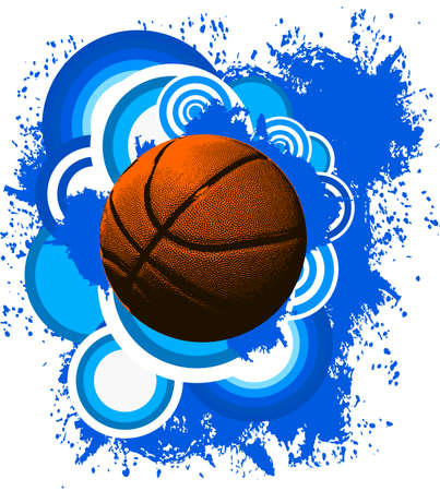 Basketball ball background Ilustrace