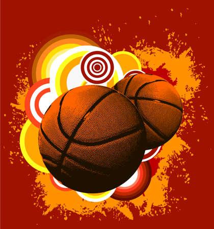 Basketbal grunge achtergrond