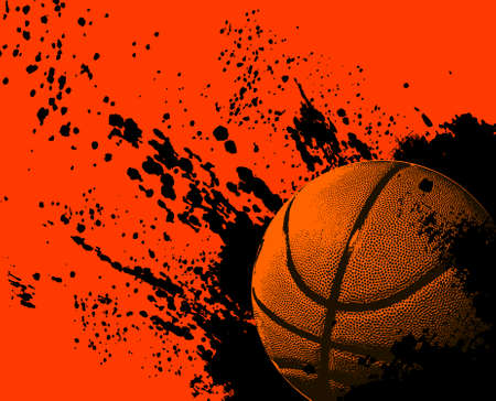 Basketbal grunge bal Stock Illustratie