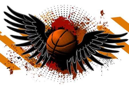 Basketball Wings grunge background