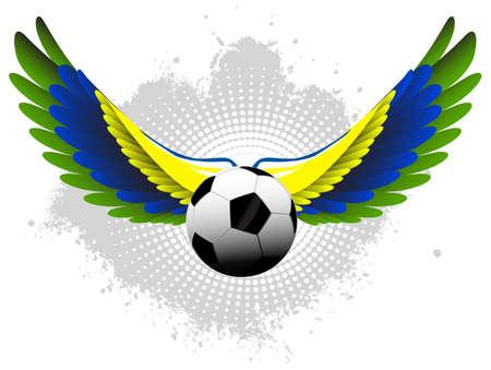 Brazil soccer wings Ilustrace