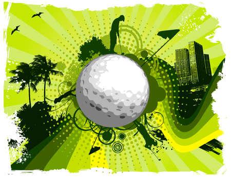 green swirl: City golf background